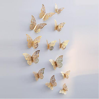 3d Butterfly Wall Stickers for home decoration free shipping