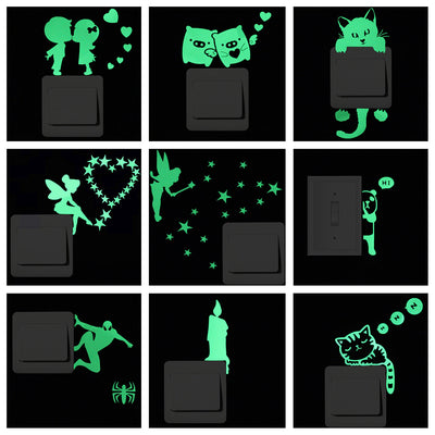 Luminous Cartoon Switch Glowing Sticker