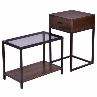 2Pcs/Set Nesting Modern Coffee Side Table
