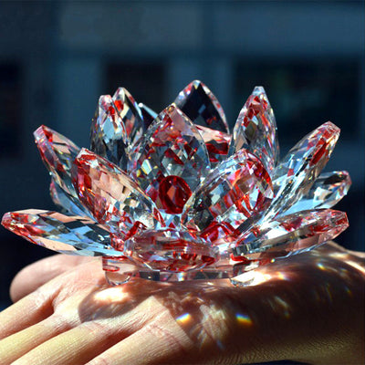 Crystal Glass Lotus Flower  Indian arts