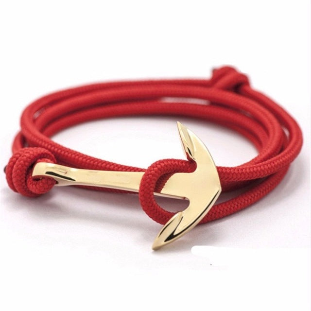 Trendy Multi layer Leather Anchor Bracelets