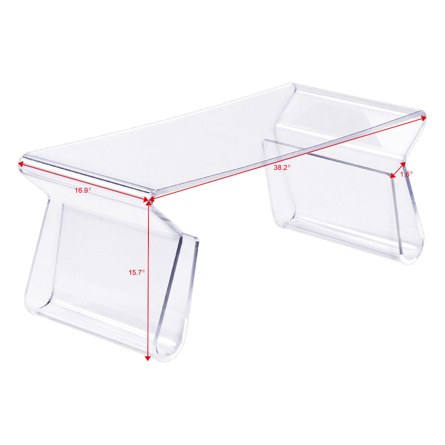 Clear glass modern Coffee Table