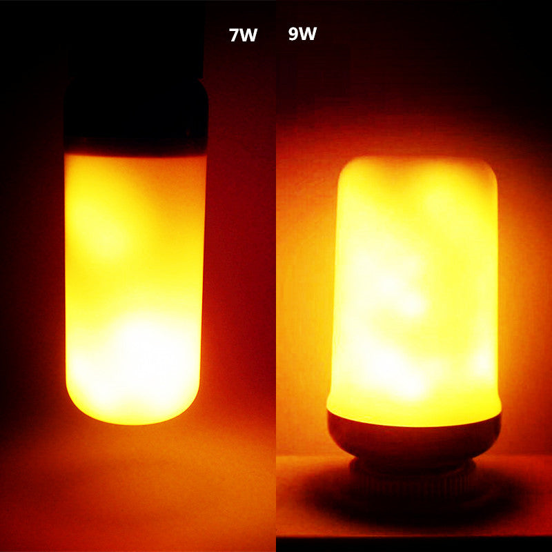 Flame effect flickering fire LED light