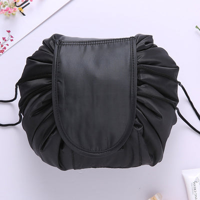Black Travel Makeup organizer bag for women Free Shipping