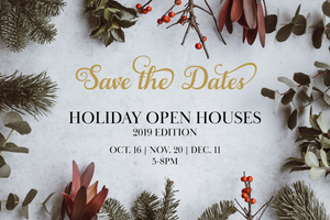 SAVE THE DATES - Wine Gourmet's Holiday Open Houses