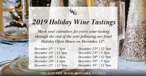 2019 Holiday Wine Tastings Through New Year's Eve