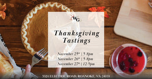 Thanksgiving Week Tastings at Wine Gourmet