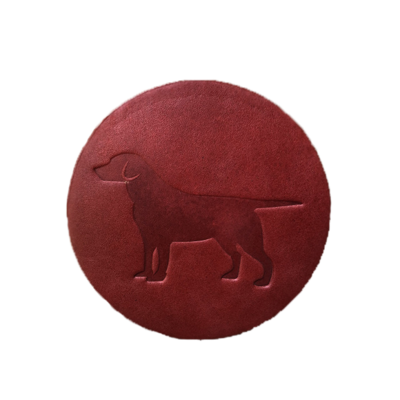 Labrador Leather Coaster