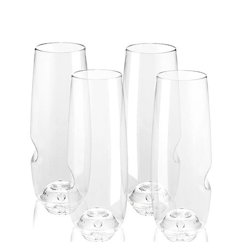 Govino 8 oz flute (set of 4) (Shatterproof & Dishwasher Safe)