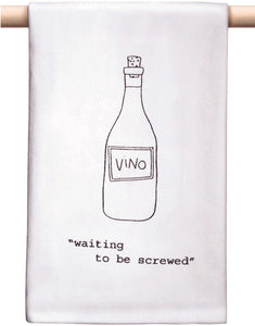 """Waiting to be Screwed"" Bar Towel"