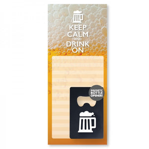 Notepad & Bottle Opener - Drink On