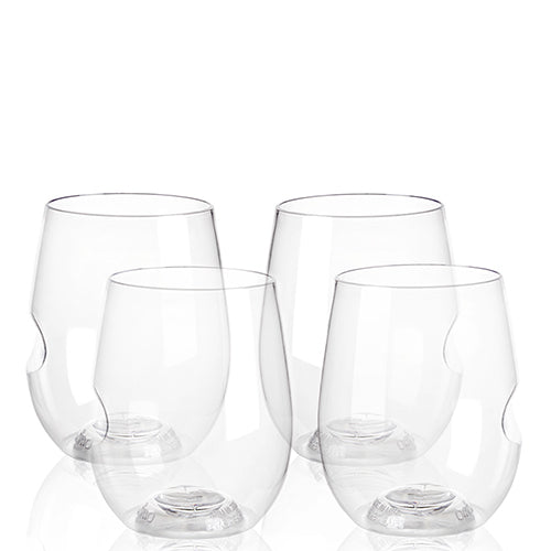 GoVino Wine & Cocktail Glass (set of 4) (Shatterproof & Dishwasher Safe)