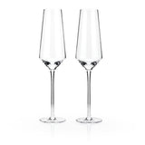 Raye™ Crystal Champagne Flutes (Set of 2) by Viski