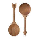 Rustic Farmhouse Acacia Serving Spoons