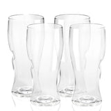 Govino 16 oz Beer Glasses (set of 4) (Shatterproof & Dishwasher Safe)