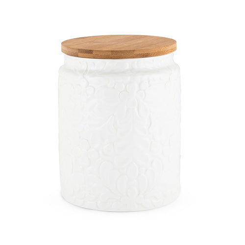 Textured Ceramic Canister