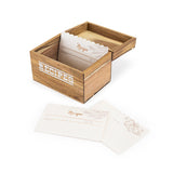 Herb Garden Wood Recipe Box