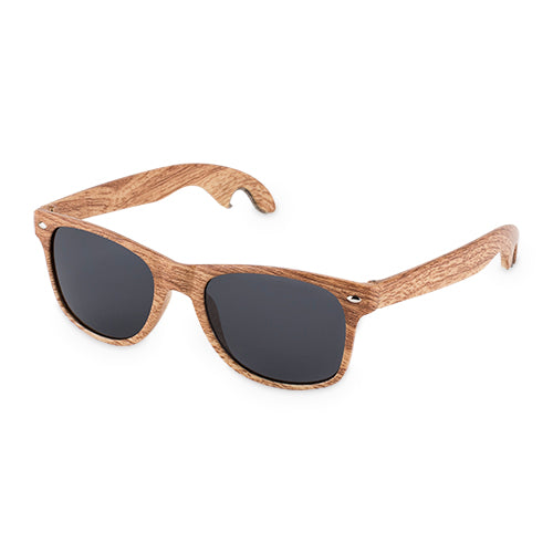 Faux Wood Bottle Opener Sunglasses by Foster & Rye