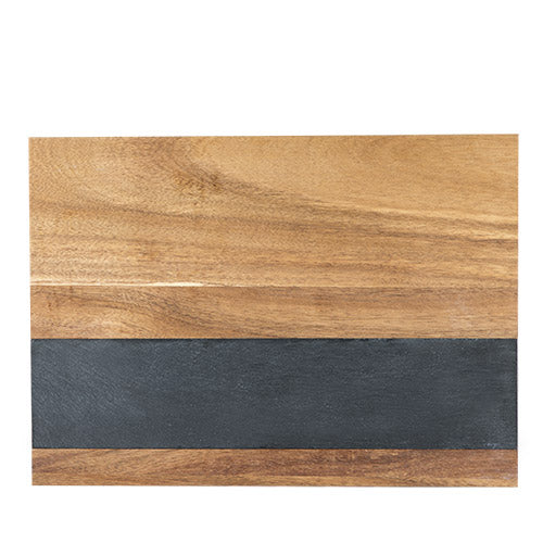 Rustic Farmhouse: Wood with Slate Board (Medium)