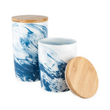 Marbled Ceramic Canister
