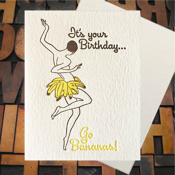 Card, Birthday Bananas