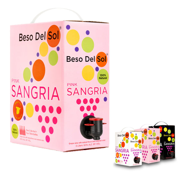Beso Del Sol, Pink Sangria - 3 L Bag-in-Box