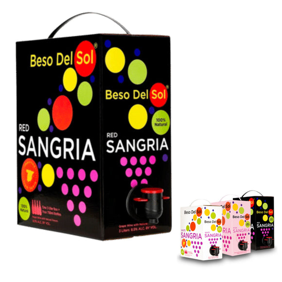 Beso Del Sol, Red Sangria - 3 L Bag-in-Box