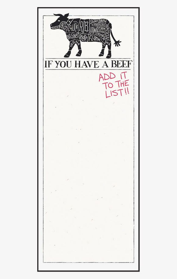 If You Have A Beef Magnetic List