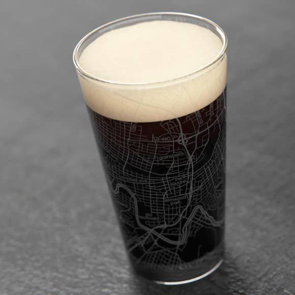 Well Told Roanoke, Virginia Map Pint Glass