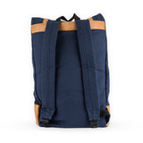 Insulated Canvas Cooler Adventure Backpack in Blue
