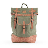 Insulated Canvas Cooler Adventure Backpack in Green