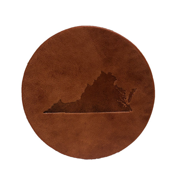 Virginia State Leather Coaster