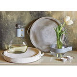 Tablesugar, Paulowine Wood & Leather Handle Tray in Grey