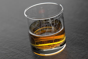 Well Told Roanoke, Virginia Map Rocks Whiskey Glass