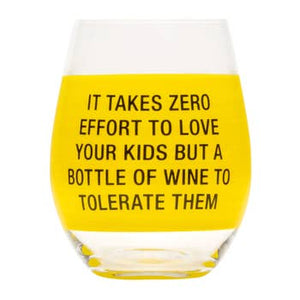 About Face Designs Stemless Wine Glasses
