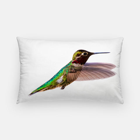 Bird, James bird photograph printed on a lumbar pillow.