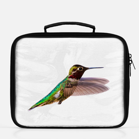 Bird, James Bird photograph printed on a lunch box.