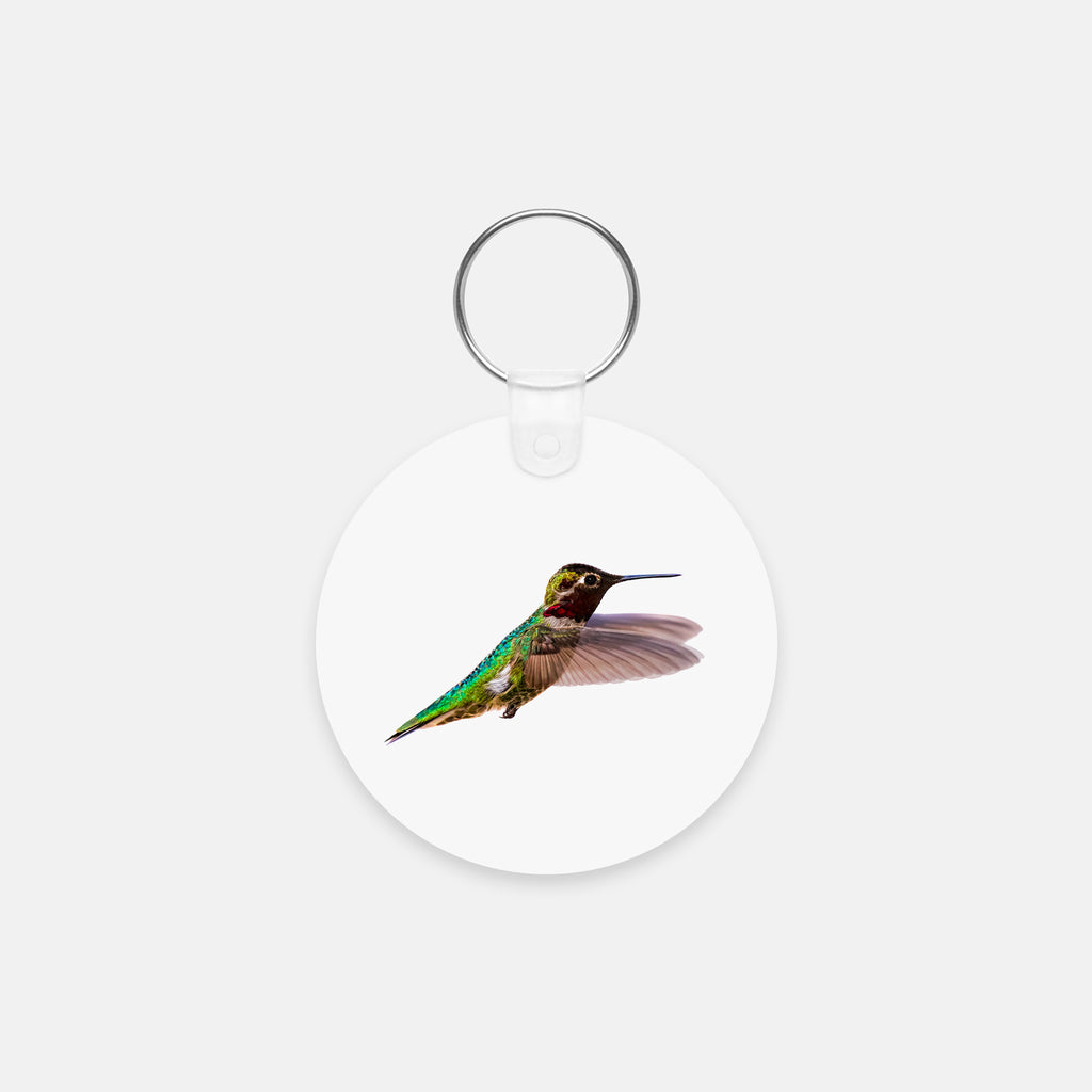 Bird, James Bird photograph printed on a round key chain.