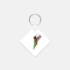 Image of Bird, James Bird photograph printed on a square key chain.