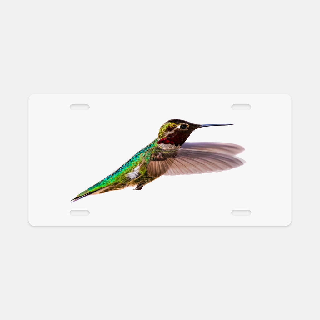 Bird, James Bird photograph printed on a license plate.
