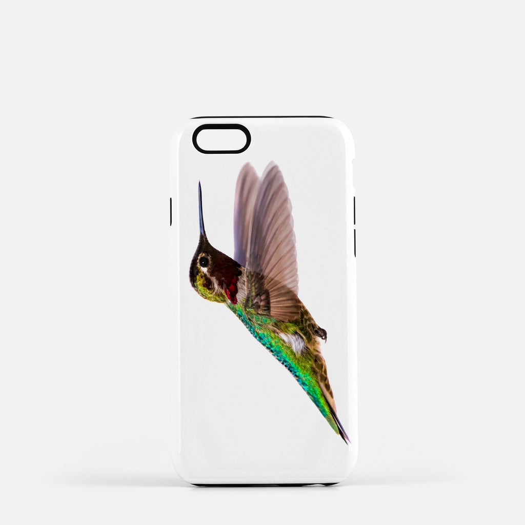 Bird, James Bird photograph on an iPhone 8 phone cover.