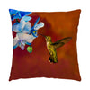 "Image of Blue Orchid Feast photograph on a 16"" square pillow."