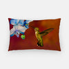 Image of Blue Orchid Feast photograph printed on a lumbar pillow.
