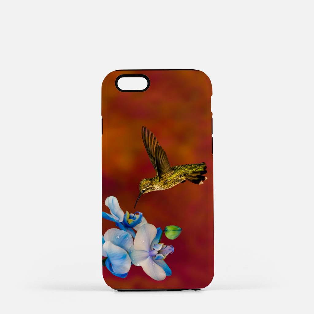 Blue Orchid Feast photograph on an iPhone 8 phone cover.