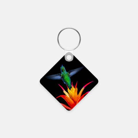 Burst Of Color photograph printed on a square key chain.