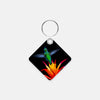 Image of Burst Of Color photograph printed on a square key chain.