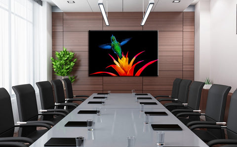 Picture of Burst Of Color hanging in a board room.