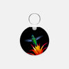 Image of Burst Of Color photograph printed on a round key chain.