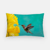 Image of Daffodil photograph printed on a lumbar pillow.