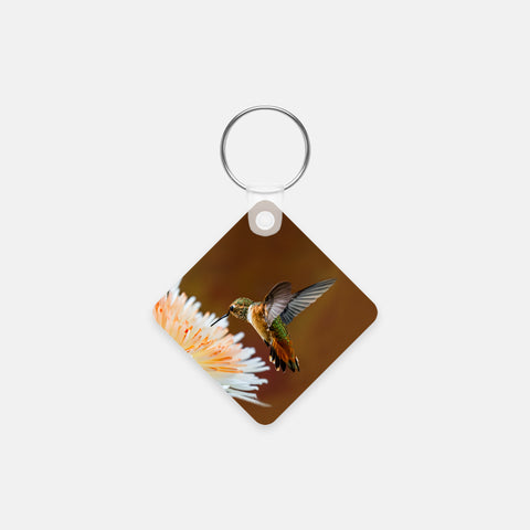 Dreamsicle photograph printed on a square key chain.